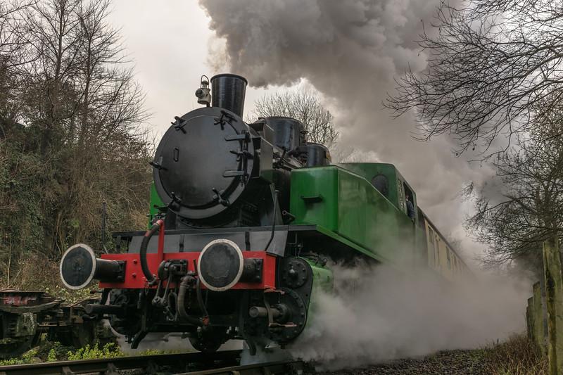 Tkh 4015 'Karel' back on Mince Pie/Sherry Specials, Avon Valley Railway 30/12/16