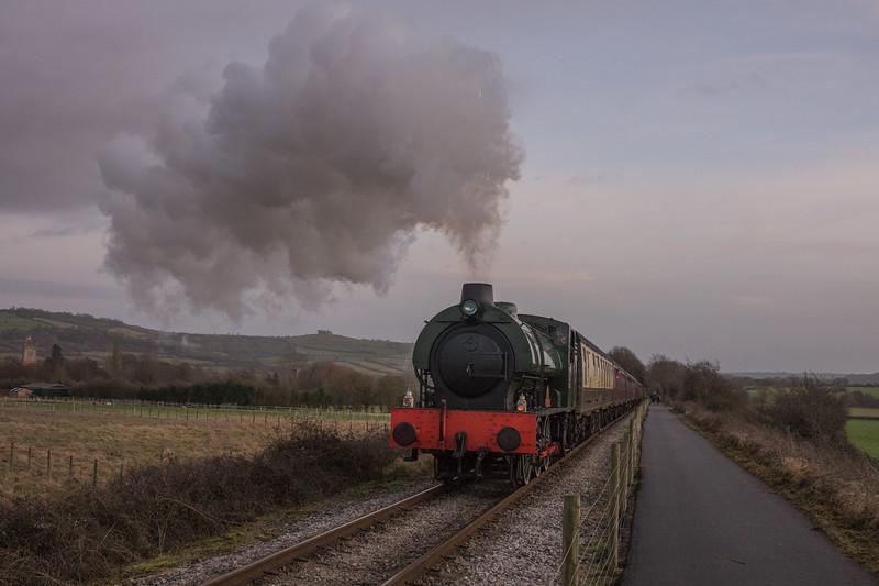Sapper on Santas, Avon Valley Railway 24/12/2016