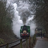 "TKH49 NO. 4015 ""Karel"" on Santa Specials duty at Avon Valley Railway 10/12/16"