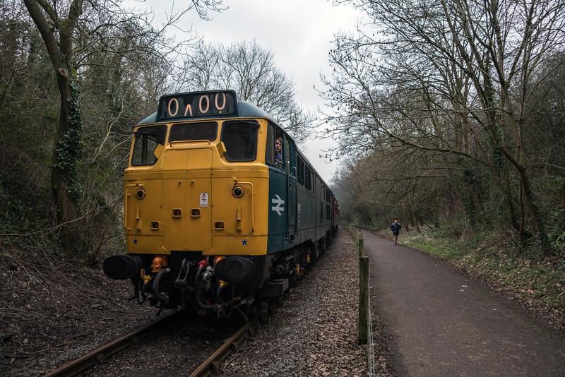 31101 on Half term duties at Avon Valley Railway 11/2/17