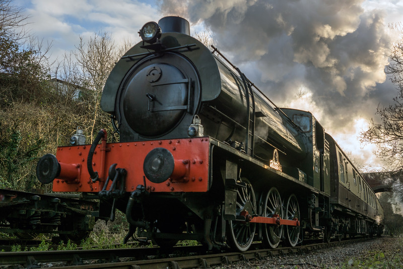 Avon Valley Railway from a different angle - mince pie specials 26/12/16