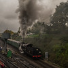 Mid Hants Railway. Very Wet. My only nearly acceptable shot from the whole day