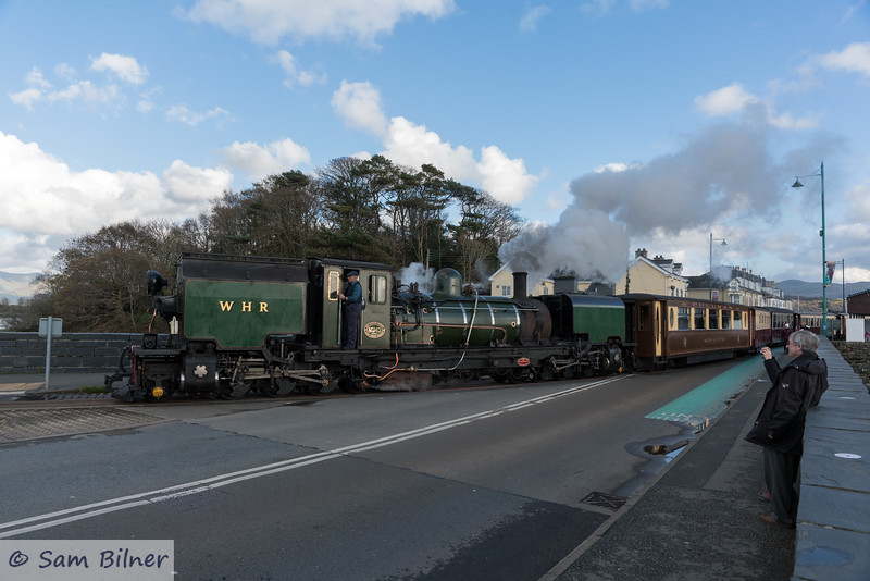 Welsh Highland Railway departure at Porthmadog