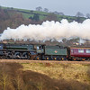 70013 Oliver Cromwell 'Cathedral's Express' past Newton St Loe 19/12/17