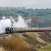 60163 'Tornado' on 'The Sulis and Sarum Express' past Newton St Loe 25/3/18