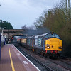 37259+37605 storm through Yate 0700 with the Easter Chieftain 2018. 30/3/18