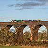 Caroline and 37402 over Huckford Viaduct, 14/1/17
