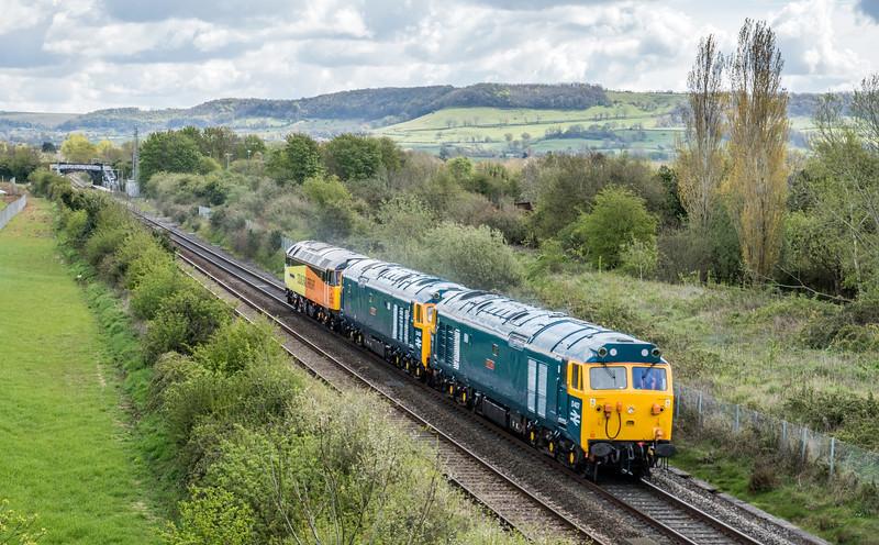 50007+50050+47749 on 0Z50 Washwood Heath - St Philips Marsh at Cam & Dursley 30/4/16
