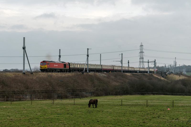 60001 'The Severn Aggregator' past Westerleigh Junction 13/1/18