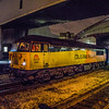 Class 56 on logs at Keynsham 29/01/2013