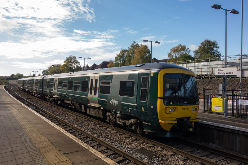 166212 on a Bristol Parkway bound service at Filton Abbey Wood 25/10/17