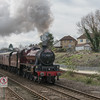 LMS Jubilee 45699 'Galatea' past Filton on 1Z53 'The Cathedrals Express' 21/3/17