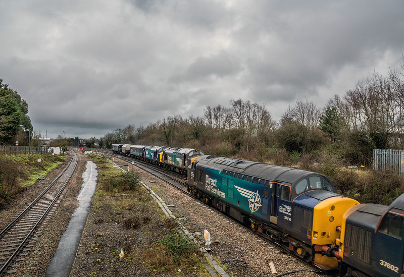 DRS Passing tractors,  Filton 27/1/16
