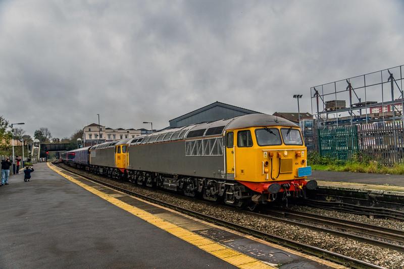 56104 + 56098 on 5m56 Laira TMD to Kilmarnock 8/11/15