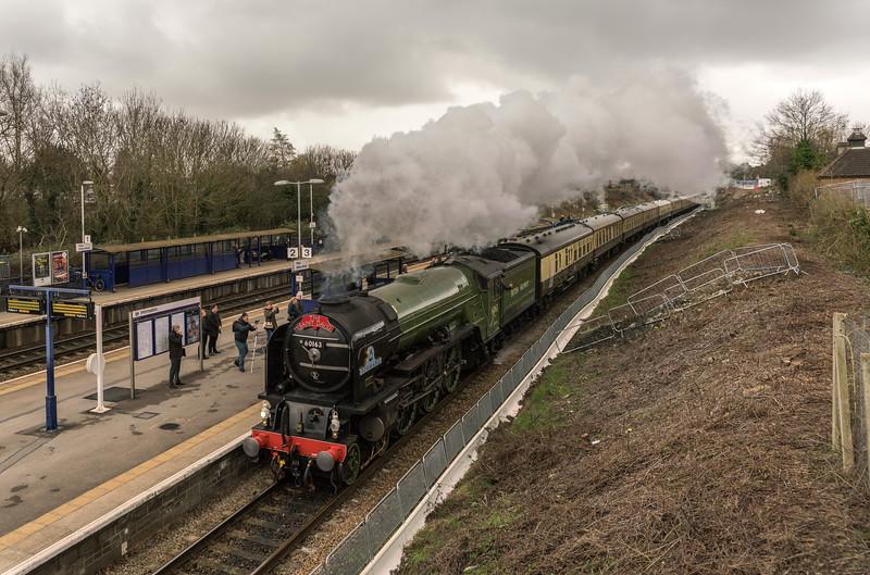 60163 'Tornado' on 'The Saint David' at Filton 1/3/17