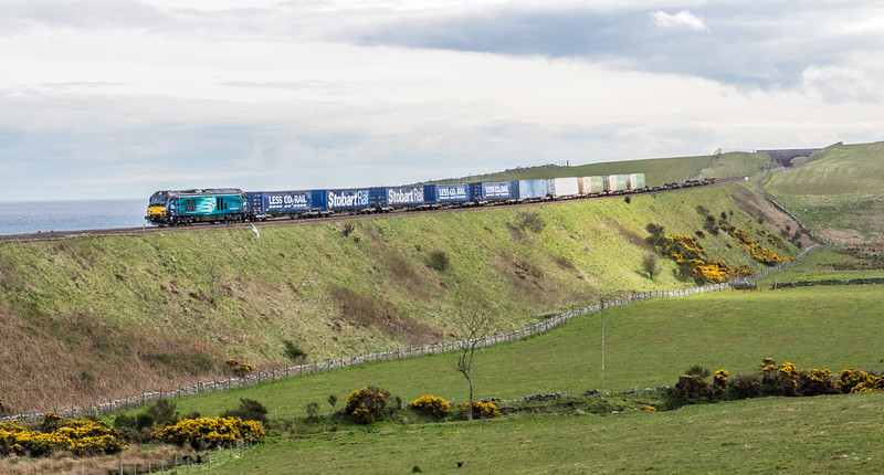 68 on a Grangemouth - Aberdeen working passes nearby Stonehaven 1/5/16