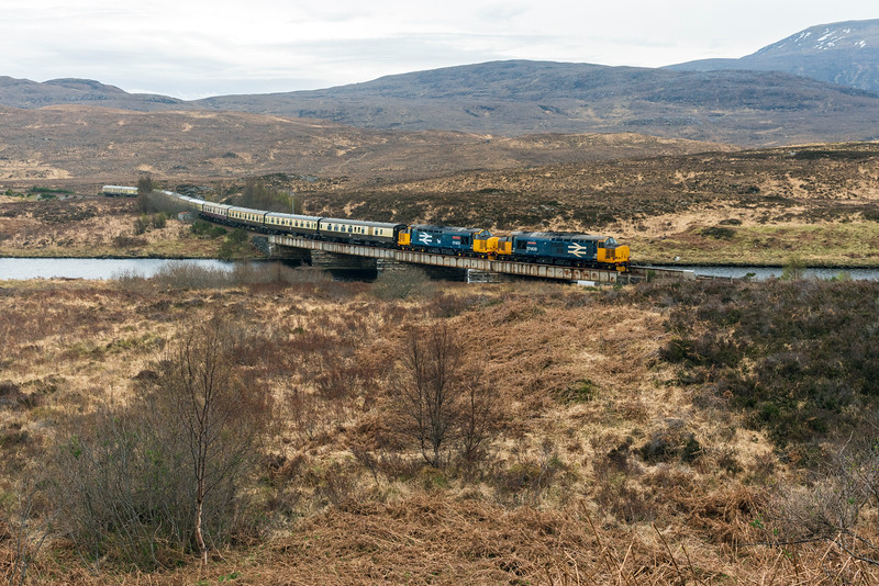 37409+37402 on the Easter Highlander 2019 at Achanalt