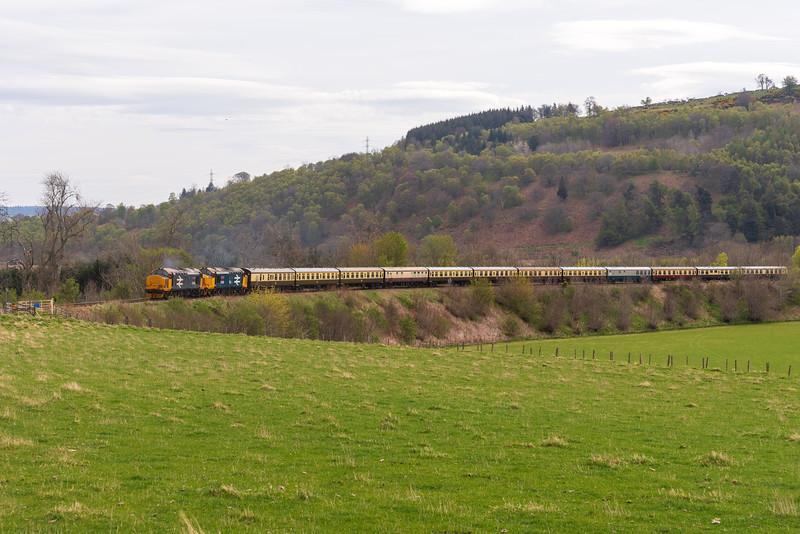 37409+37402 on the Easter Highlander 2019 at Fodderty