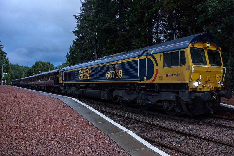 66739 on Royal Scotsman at Tulloch 18/8/17
