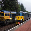 Royal Scotsman and Caledonian Sleeper meet at Tulloch 18/8/17