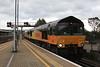 66744 + 66745 0Z70 Hastings  - Ashford arriving @ Ashford 12.10.11