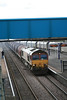 Nearly catching me off my guard 66143 whips past with 6E20 Margam - Immingham loaded steel 15.02.12