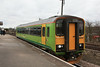 153379 still in Ex Central Trains livery calls with a Grimsby - Newark North Gate EMT service 15.02.12