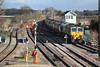 Having waited for 170302 to clear Barnetby 66524 follows on with 6M51 Immingham - Rugeley P.S loaded HXA coal 15.02.12