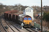 66095 6T24 Immingham - Santon passing Barnetby East Signal Box 15.02.12