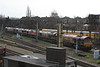 66080 + 66075 + 66101 + 66232 + 66099 arriving back after weekend engineering 14.02.12