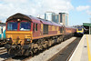 66108 6V67 Redcar - Margam loaded HTAs through Cardiff Central 20.05.11
