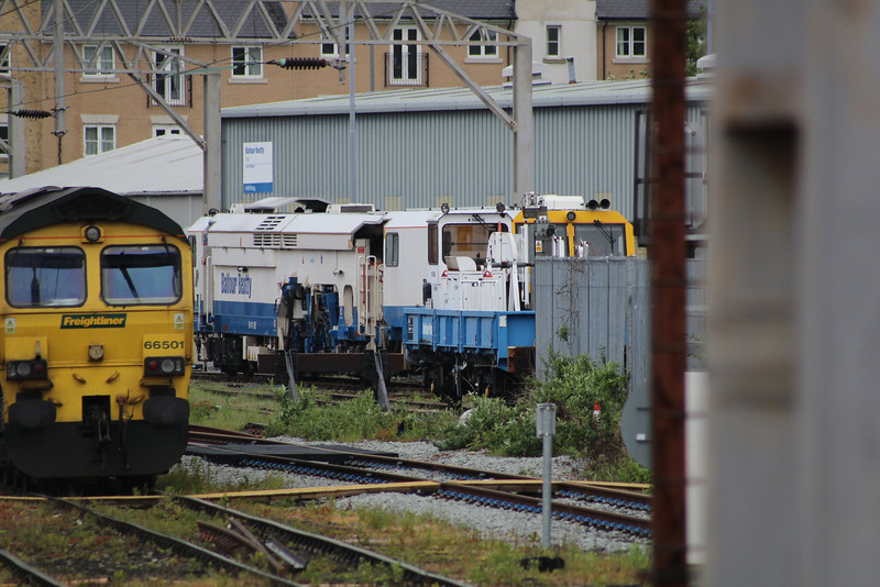 DR75408 Matisa B41UE Tamper stabled outside the Colchester Balfour Beatty OTPD 24.05.13