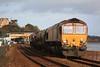 66061 + RHTT + 66139 3S13 Westbury - St Blazey 05.12.11