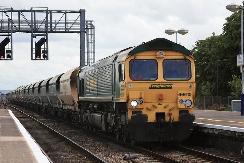 66610 6V87 Neasden Charrington Sidings - Bristol Barrow Road passing through Didcot 07.07.11