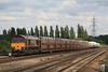 66184 6X44 Dagenham - Didcot Yard slows to enter the yard 07.07.11