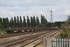 66151 6X01 Scunthorpe - Eastleigh Yard with its loaded rail train 07.07.11
