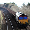 66096 6C08 Westbury - St Blazey with a cracking rake of MFAs MHAs & MTAs 15.02.13