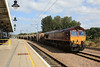 66039 arrives at Ely with loaded PGAs & JGAs to run around while working 6L39 Mountsorrel - Norwich Trowse 05.09.12