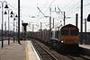 66726 4E33 Felixstowe - Doncaster Railport liner rumbles through Platform 1 05.09.12