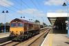 66081 passes working Hoo Junction - Whitemoor Yard light engine 05.09.12