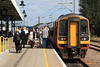 158773 on Platform 3b @ Ely as passanger fight to get on and off 05.09.12