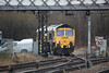 66514 waits to dept from the yard at Guide Bridge 17.02.12