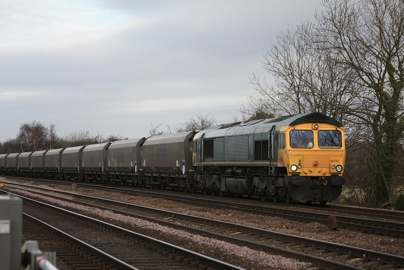 66740 6H30 Tyne Dock - Drax P.S loaded Biomass IIAs 16.02.12