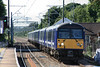 360115 + 360109 arriving at Ingatestone working London Liverpool Street - Clacton 03.09.12