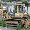 Quattro Plant Komatsu D41P Dozer No: 553 UIC: 99709 914058-1 stabled alongside other Quattro Plant 04.10.15