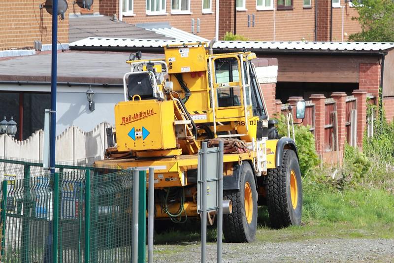 A.P Webb Plant JCB 714 Super-Boss Dump Truck No: RSB005 UIC: 99709 949002-8 stabled just off the Up platform