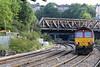 66135 heads east light engine through Newport 27.09.13