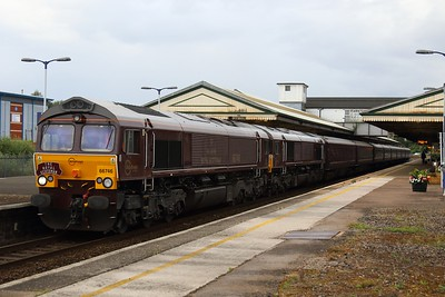 66746 + 66743 + Royal Scotsman Set with 1Z79 Gloucester - Bath Spa via Newton Abbot 12.07.16