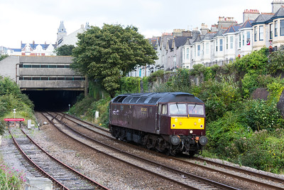 47746 0Z84 Exeter St Davids - Penzance approaches Plymouth Station 17.09.16