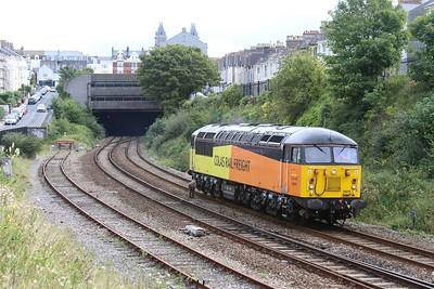 56078 0C54 Westbury - Burngullow Jn emerging from Mutley Tunnel 23.09.16
